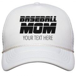 Custom Baseball Mom Trucker Hat