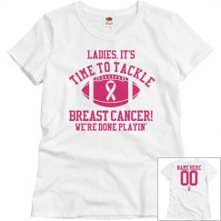 Budget Priced Breast Cancer Football Shirts With Name
