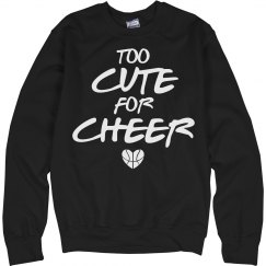 Too Cute for Cheer Cute Basketball Girl Graphic Design