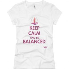 Keep Calm and Be Balanced - Slim-fit Jersey T