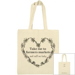 Take me to farmers markets tote