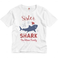 Sister Shark Matching Family Christmas Custom Shirts