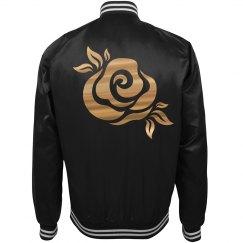 Floral Rose Trendy Bomber Jacket
