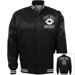 Satin Bomber Bling Football Mom