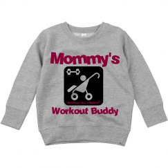 Mommy's Workout Buddy Hoodie pink