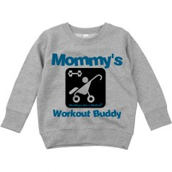 Mommy's Workout Buddy Hoodie blue