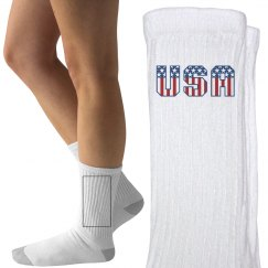 USA Forever Patriotic Socks