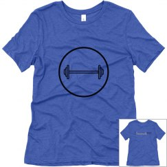 Barbell Circle T-Shirt (Black Text)