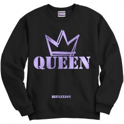 UNISEX FOIL QUEEN CREW NECK SWEATSHIRT