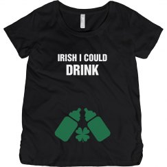 St Patricks Day Maternity Tee