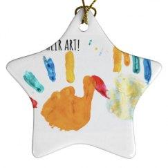 Porcelain Star Ornament