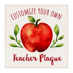 Custom Teacher Apple Wall Hanging