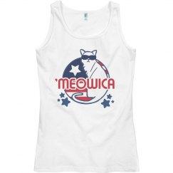 Feline 'Meowica July Fourth Tank