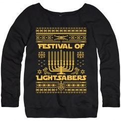 Cozy Lightsaber Hanukkah