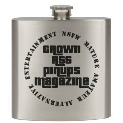 Grown Ass Pinups Magazine GTA Style Flask