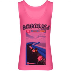 GOBABIES Youth Canvas Jersey NEON Tank Top