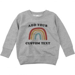 Customizable Trendy Toddler Sweatshirt