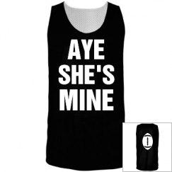 Football She's mine shirt