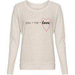 You + Me = Love Text Shirt