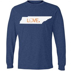 Tennessee State Love Tennis Tshirt