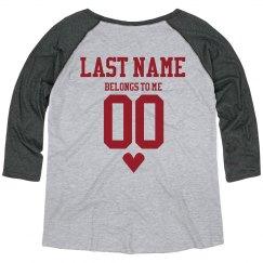 Last Name Custom Plus Sized Raglan