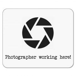 Photographer Working Here Mousepad - Camera Shutter