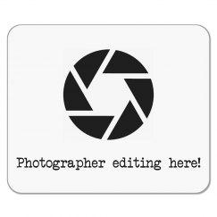 Photographer Editing Here Mousepad - Camera Shutter