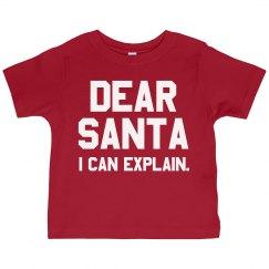 Dear Santa Toddler Tee