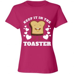 Color Guard Keep It In The Toaster Funny Graphic Shirt