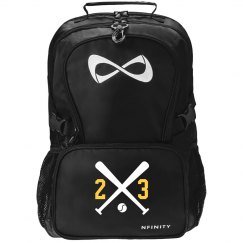 Softball Girl Black Nfinity Backpack With Custom Number