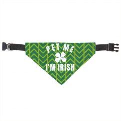 Pet Me I'm Irish Cat/Dog Bandana