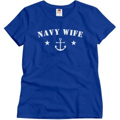 Simple & Cute Navy Wife Design