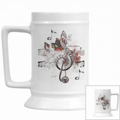 Sheet Music & Roses Silver Music Notes