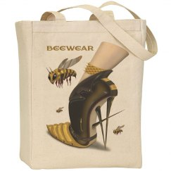 Beewear Large Canvas Tote Bag