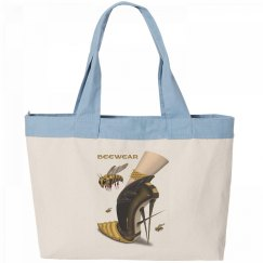 Beewear Zippered Canvas Tote Bag