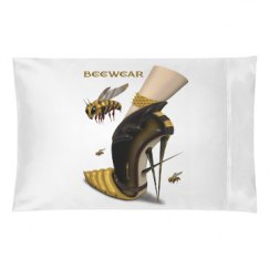 Beewear White Pillow Case Queen Size