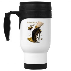 Beewear 14oz White Stainless Steel Travel Mug