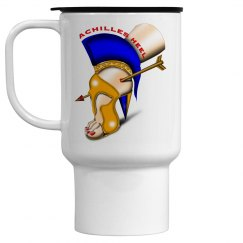 Achilles Heel 15oz Pop-Out Top White Travel Mug