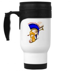 Achilles Heel 14oz White Stainless Steel Travel Mug