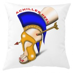 Achilles Heel Large Format Print Throw Pillow Cover