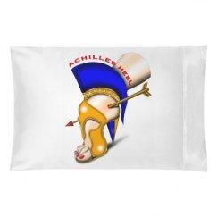 Achilles Heel White Queen Size Pillow Case