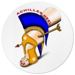 Achilles Heel Round Drink Coaster