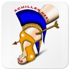 Achilles Heel Square Drink Coaster