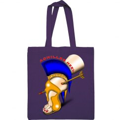 Achilles Heel Cotton Canvas Tote Bag