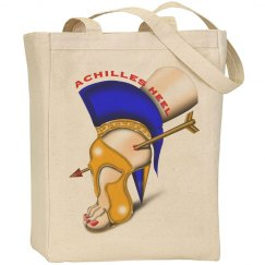 Achilles Heel Large Canvas Tote Bag