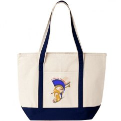 Achilles Heel Canvas Beach Tote Bag