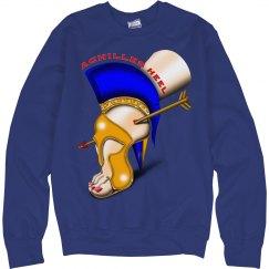 Achilles Heel Crewneck Cotton Long Sleeve Sweatshirt