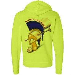 Achilles Heel Neon Fleece Zipper Unisex Hoodie