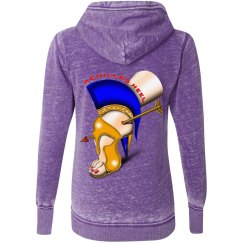 Achilles Heel Glitter Vintage Zip Hoodie for Misses