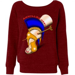 Achilles Heel TriBlend Slouchy Loose Sweatshirt Misses